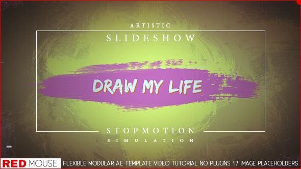 Draw My Life Stop Motion Slideshow Abstract After Effects