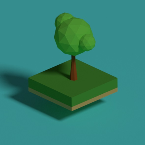Summer Time Low Poly Tree - 3DOcean Item for Sale