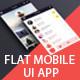 Flameno Flat Mobile App UI