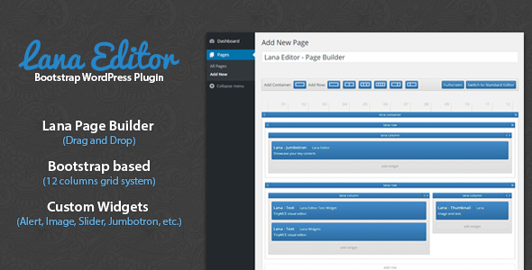 Lana Editor – Drag & Drop Page Builder