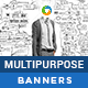 HTML5 Multi Purpose Banners - GWD - 7 Sizes(BEE-CC-060)