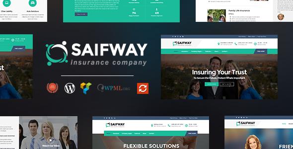 Download Saifway - Insurance Agency WordPress Theme