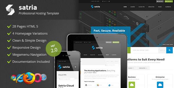 Satria - Professional Hosting HTML5 Template