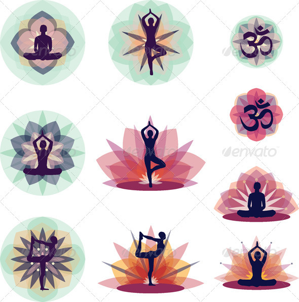 GraphicRiver Yoga Vector Illustration Set 1716343