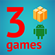 3 Amazing BuildBox Game Templates (Bundle 4): Android; Easy Reskin; AdMob & Chartboost Ads & IAP