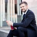 Elegant handsome entrepreneur