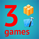 3 Amazing BuildBox Game Templates (Bundle 4): iOS; Easy Reskin; AdMob & Chartboost Ads & IAP