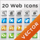 20 Modern Web Icons - GraphicRiver Item for Sale