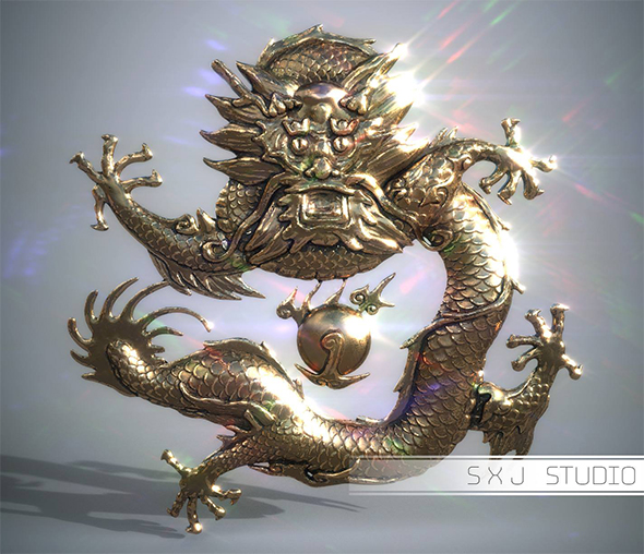 Asian Dragon - 3DOcean Item for Sale