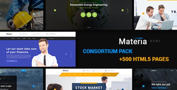 Materia - Consortium Multiuse Pack HTML5 & CSS3 Template