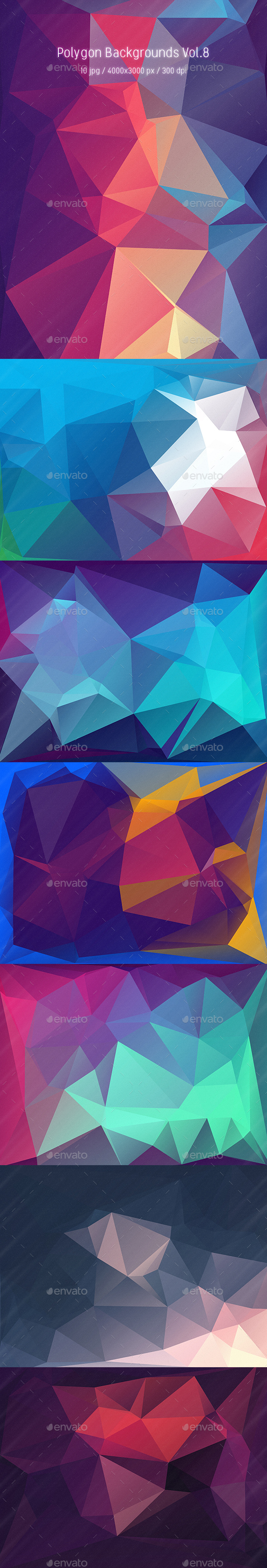 Polygon Backgrounds Vol.9