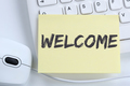 Welcome new employee colleague refugees refugee immigrants office
