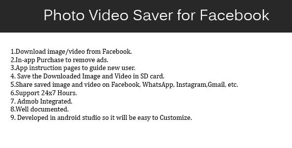 Photo Video Saver for Facebook