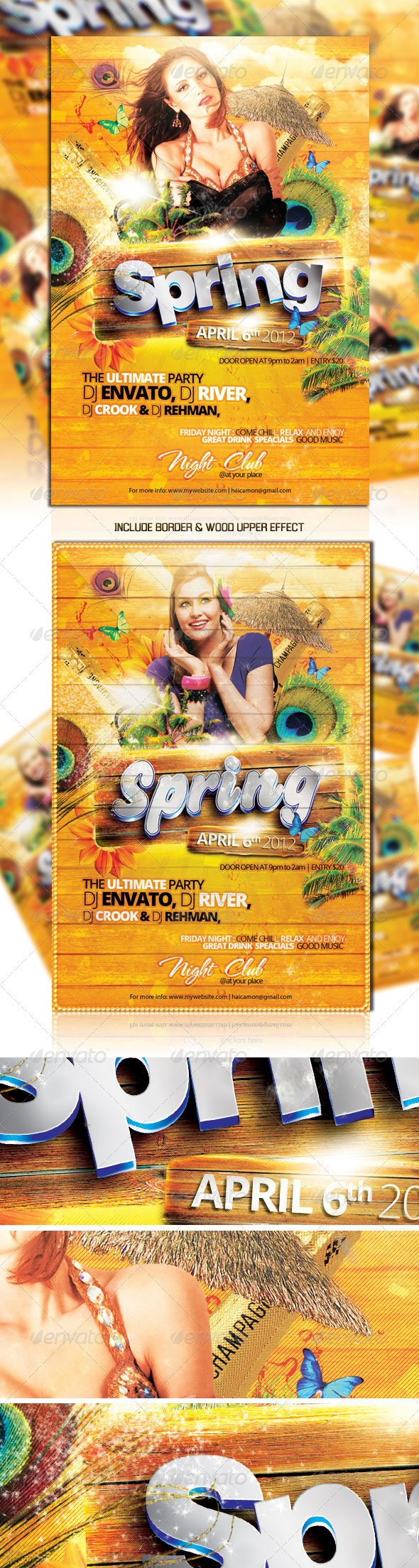 Spring Party Flyer Vol_1 - Clubs & Parties Events