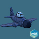 Cartoon Blue Plane