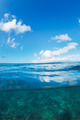 Tropical Ocean, Split View Half Over Half Underwater - PhotoDune Item for Sale