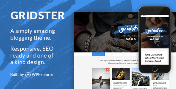 Download Gridster - A Responsive WordPress Blog Theme