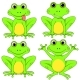 Frogs Set on White Background