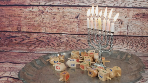 Download Lighting Hanukkah Candles Hanukkah Celebration nulled download