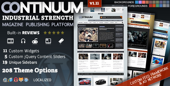 Continuum - Magazine Wordpress Theme