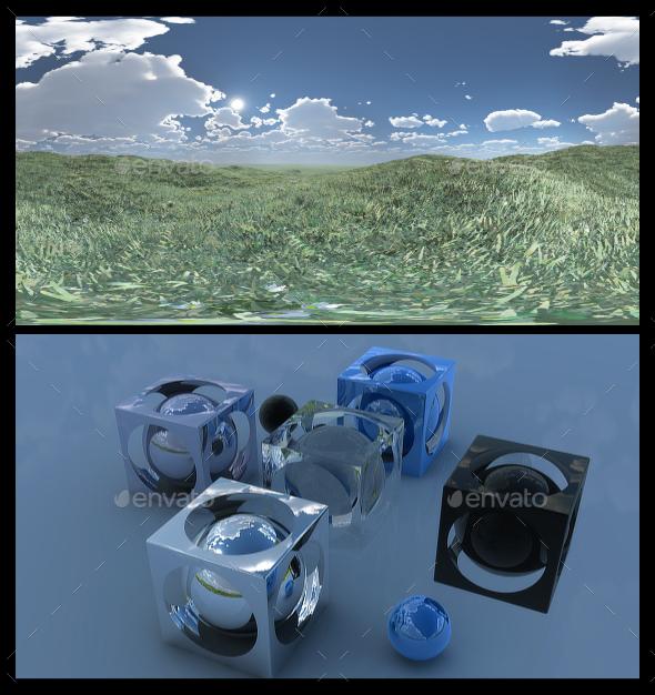 Open Grass Field 5 - HDRI - 3DOcean Item for Sale