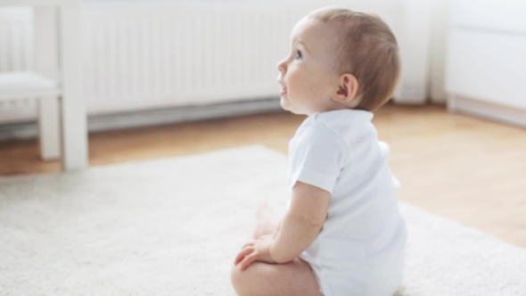 Download Happy Baby Crawling In Living Room At Home 9 nulled download