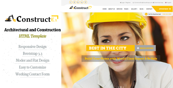 ConstructEx-Construction and Builder HTML Template