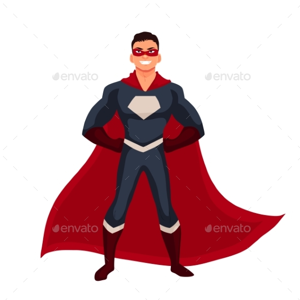 Superhero Man in Cape