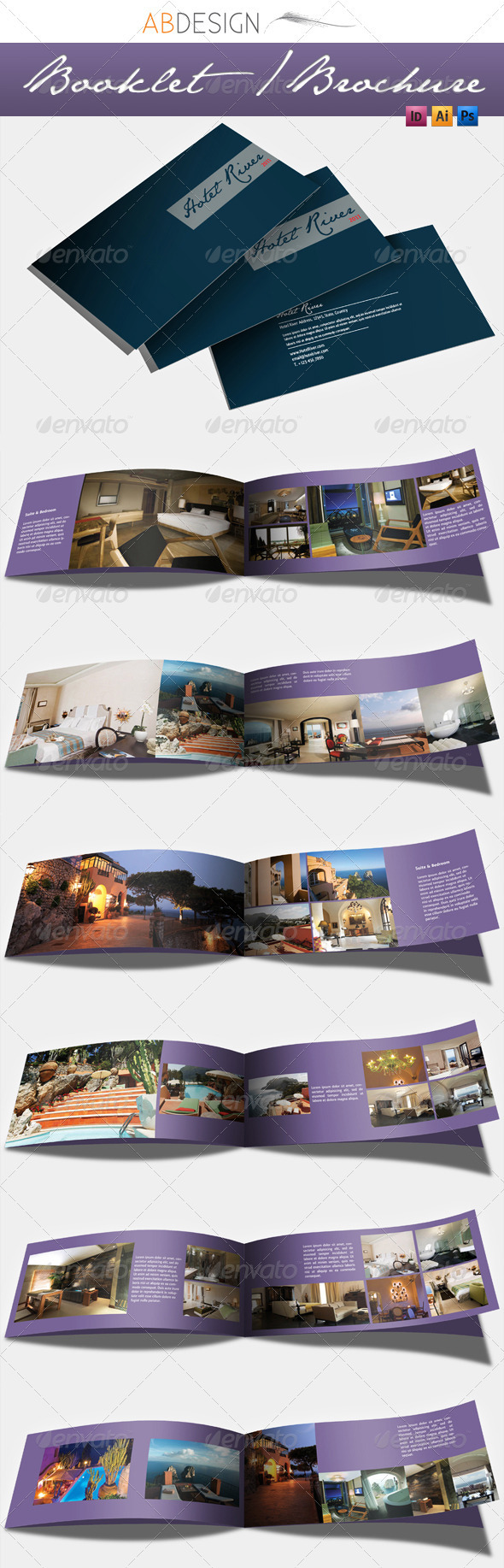 12 Pages Booklet Layout - Corporate Brochures