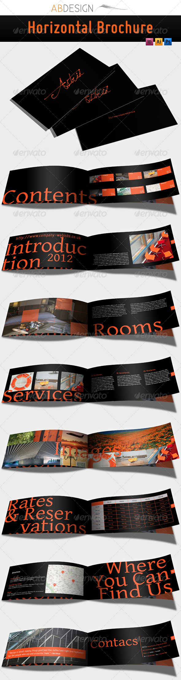 GraphicRiver Horizontal Brochure 507837
