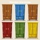 Cartoon Colorful Closed Wardrobe