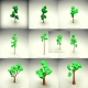 Low Poly Tree 10 Pieces Set