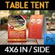 Restaurant Table Tent Template Vol.13