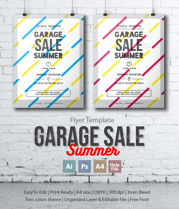 Garage Sale Summer Flyer/Poster