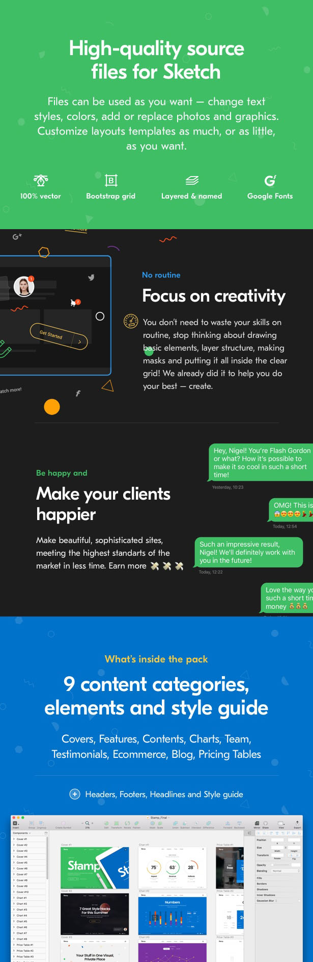 stamp 100 beautiful web components free website templates