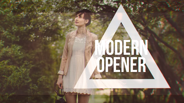 Modern Fashion Opener // Fast Glitch Slideshow