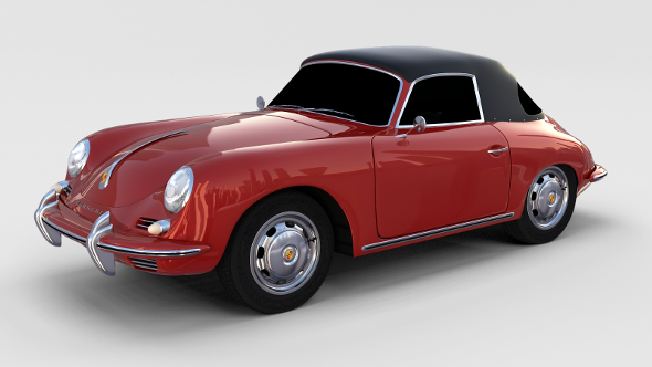 Porsche 356 Cabrio rev - 3DOcean Item for Sale
