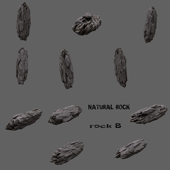 mount rock 8 - 3DOcean Item for Sale
