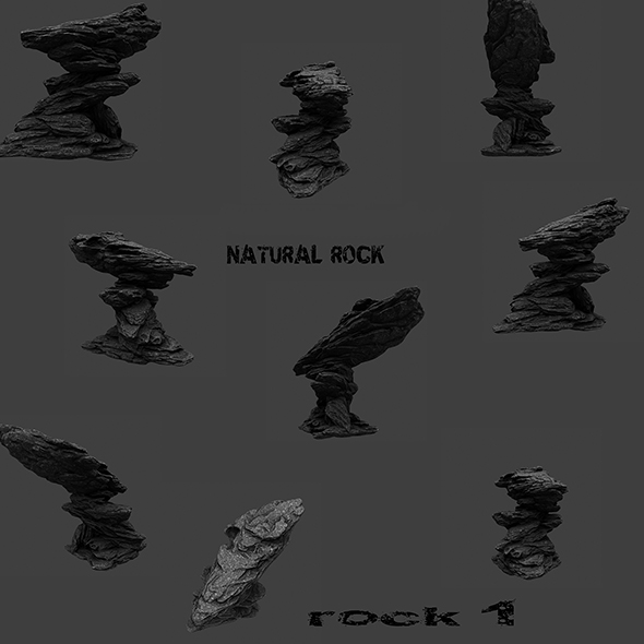 mount rock 1 - 3DOcean Item for Sale
