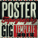 Typography Gig Poster/Flyer - GraphicRiver Item for Sale