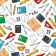 Education Seamless Pattern Of School Supplies