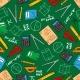 Mathematical Education Seamless Pattern Background
