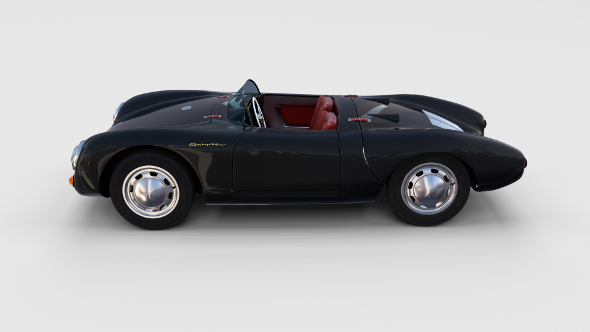 Porsche 550 Spyder black rev - 3DOcean Item for Sale