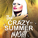 Crazy Summer Night Party Flyer