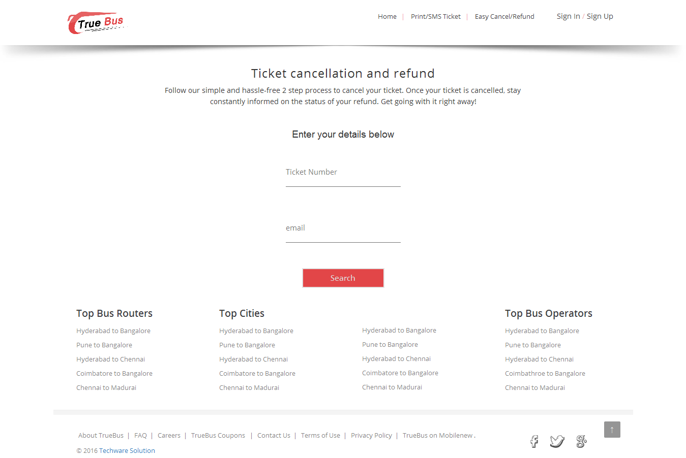 Online Bus Ticket Booking and Reservation System True Bus by – Redbus Ticket Print
