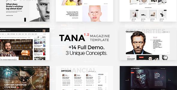 Download Tana Magazine - News, Entertainment, Fashion Template