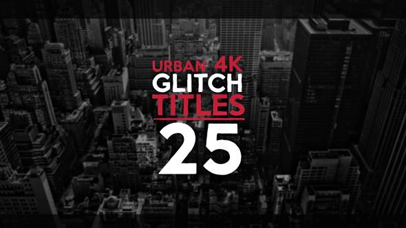 25 Urban Glitch Titles 動感字幕-Videohive中文最全的AE After Effects素材分享平台