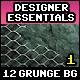 12 Grunge Backgrounds Vol.1