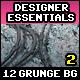 12 Grunge Backgrounds Vol.2