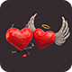 Polygonal Hearts Pack